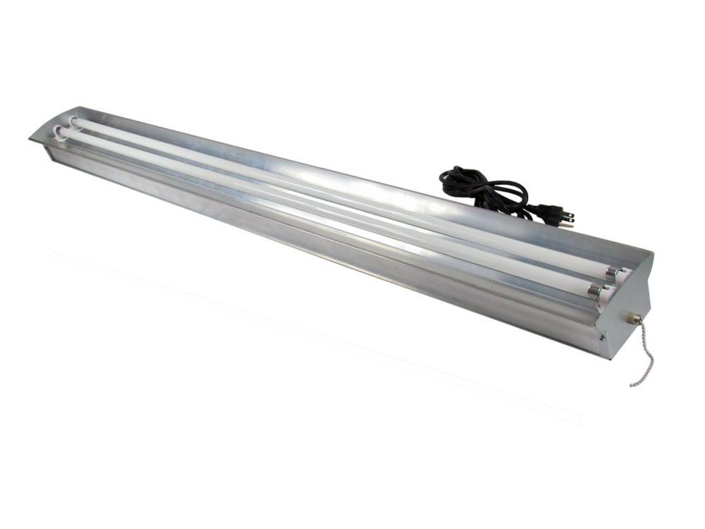 Home Selects 2-Lamp High Output 54-Watt (Each) T5 Aluminum Grow Light Fixture with Lamps