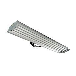 Home Selects 4 Feet 4-Lamp High Output 54-Watt (Each) T5 Aluminum Grow Light Fixture with Lamps