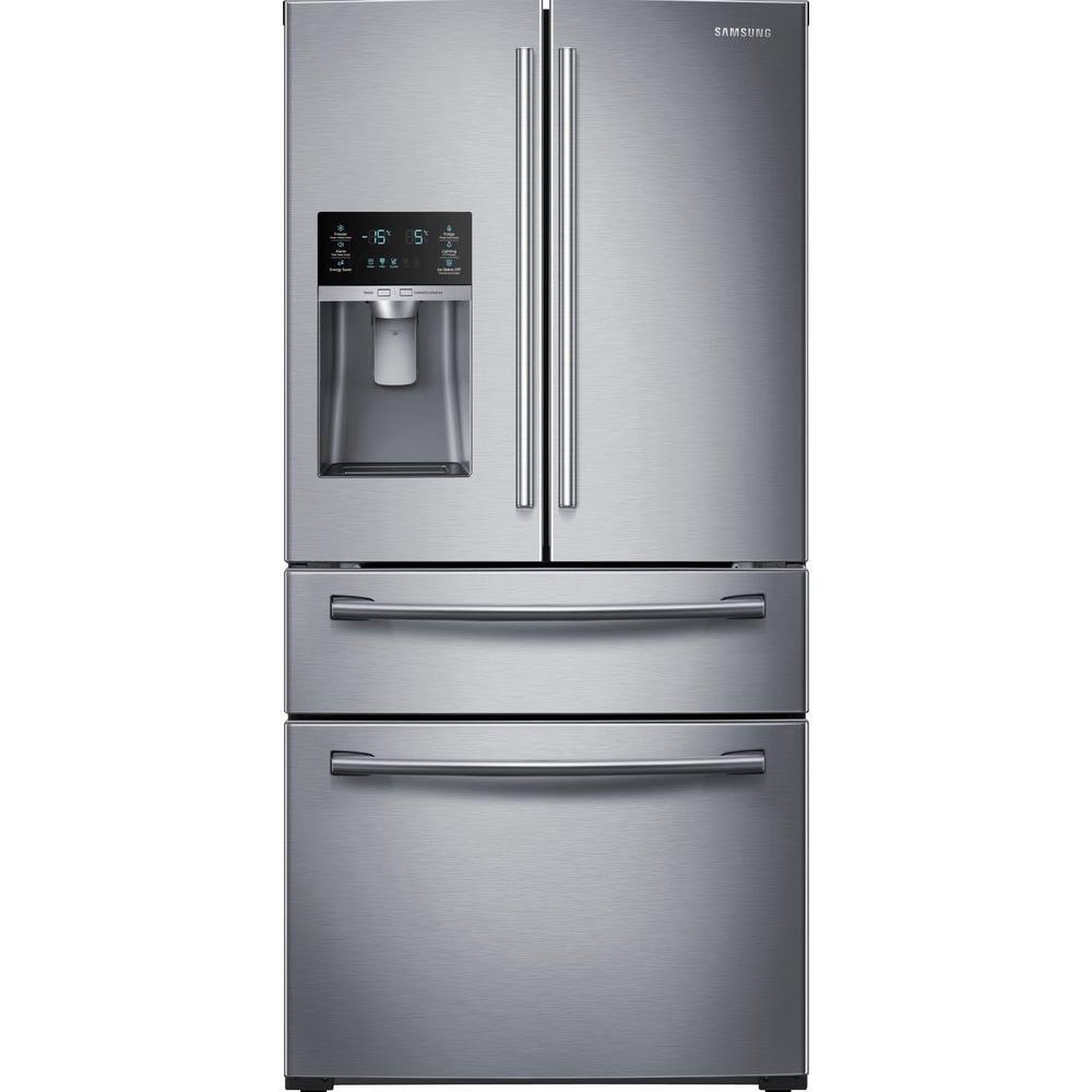 28 cu. ft. 3-Door French Door Refrigerator in Stainless Steel
