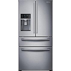 28 cu. ft. 3-Door French Door Refrigerator with Flex Zone Drawer in Stainless Steel