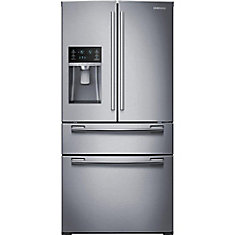 Réfrigérateur à quatre portes françaises de 25 pi. cube, acier inoxydable - RF25HMEDBSR - ENERGY STAR®