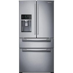 Samsung 33-inch W 25 cu. ft. French Door Refrigerator in Stainless Steel - ENERGY STAR®