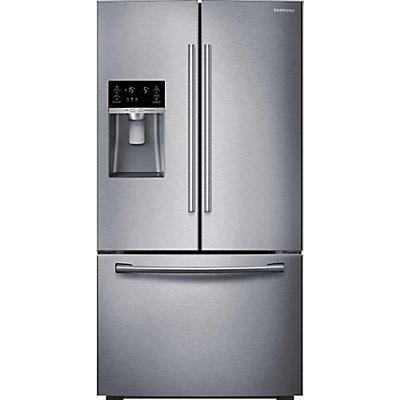 Samsung 23 Cu Ft 3 Door French Door Counter Depth Refrigerator In