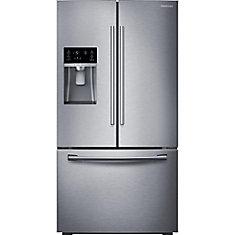 23 cu. ft. 3-Door French Door Counter-Depth Refrigerator in Stainless Steel