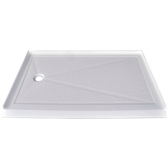 SERENE 60 X 36 Inch Barrier Free Single Threshold Shower Base with Offset Drain Left Hand Drain -...