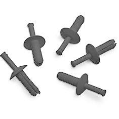 3/4 po gris rivets