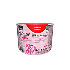 R-12 PINK-PAK PLUS EcoTouch PINK FIBERGLAS Insulation - 15-inch. x 32 Feet. x 3.5-inch.; 40 sq. ft.