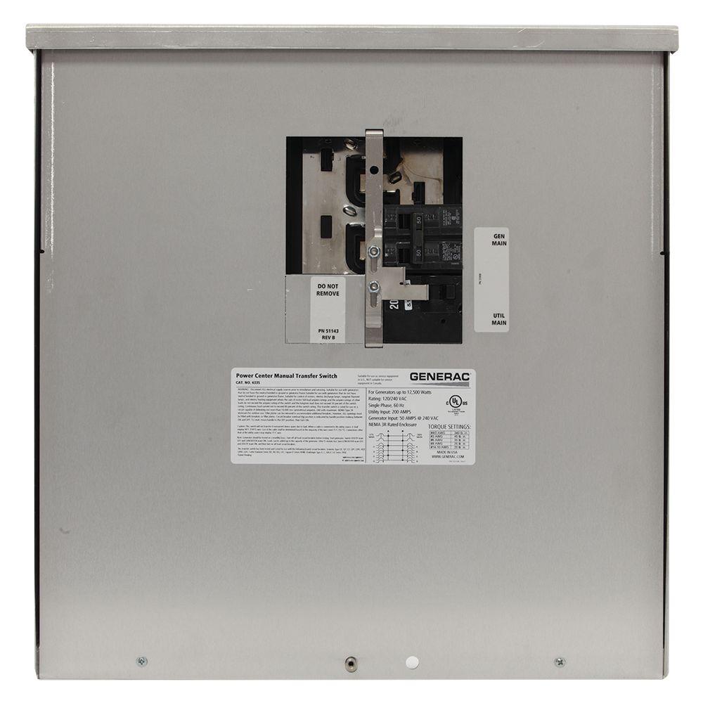Commutateur/converteur manuel extérieur, sans fusible, 200A, 12500W