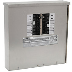 30-Amp Manual Transfer Switch 10-16 Circuits 7.5kW Outdoor