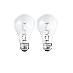 Philips Halogen 100W A-line (A19) Clear (2-Pack)