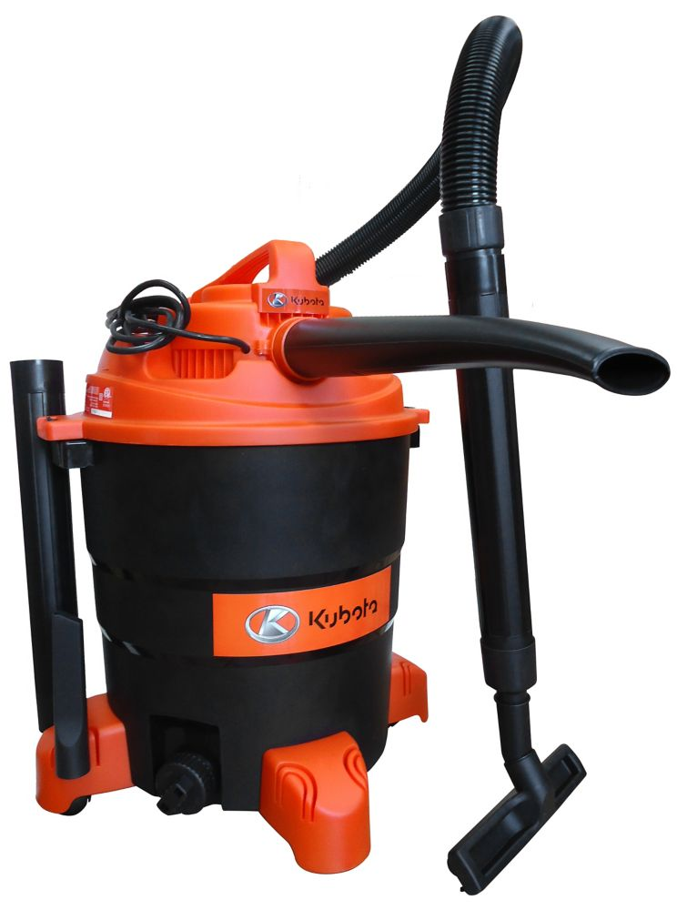 Kubota Wet/Dry Vac with Detachable Blower and Accessories (14.5G)