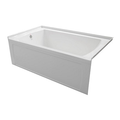 x right bathtub rectangular drain sterling hand ensemble w l with skirted in