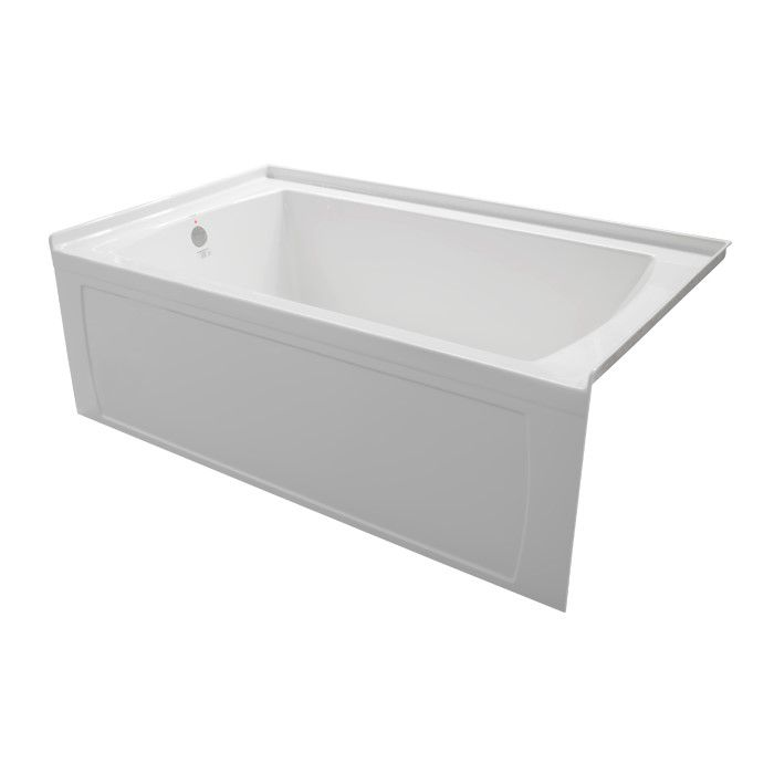 Oro 5 Feet 6-Inch Acrylic Skirted Non Whirlpool Bathtub in White