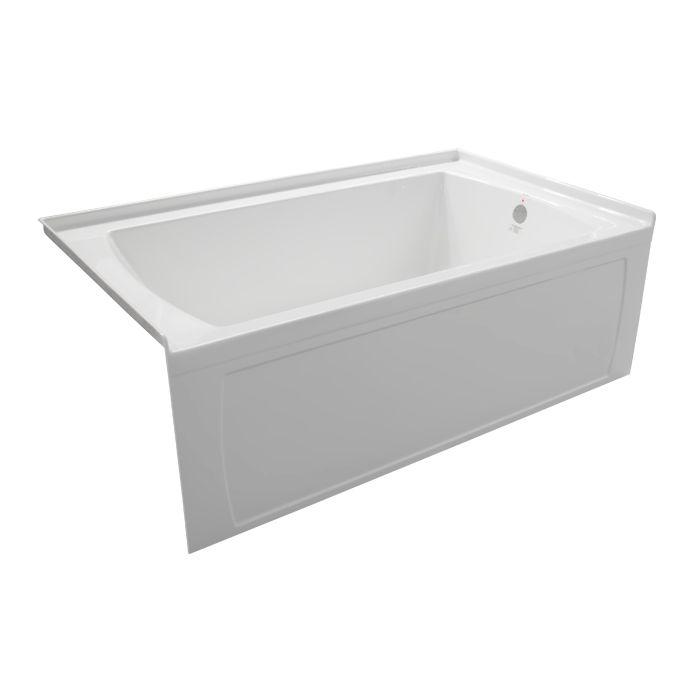 Oro 5 Feet 6-Inch Acrylic Skirted Non Whirlpool Bathtub in White