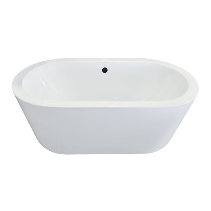 Vienna Rectangular Freestanding Non Whirlpool Bathtub in White