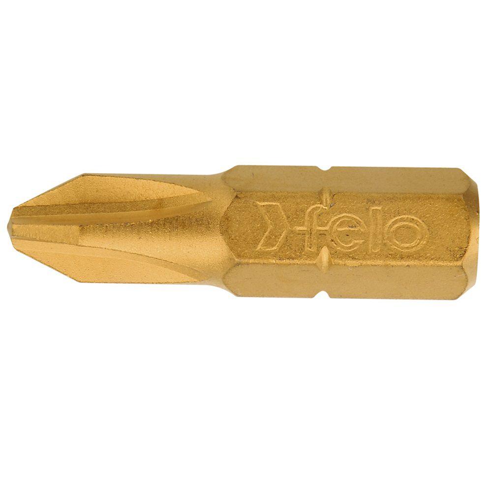 Felo 2 x 25mm Tin Bit PH (10-Pack)