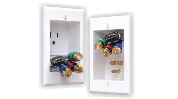Single electrical outlet in-wall extension kit