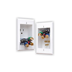 Power Bridge In-Wall Power Connection Kit with Single Power and Cable Management for Wall Mounted HDTV