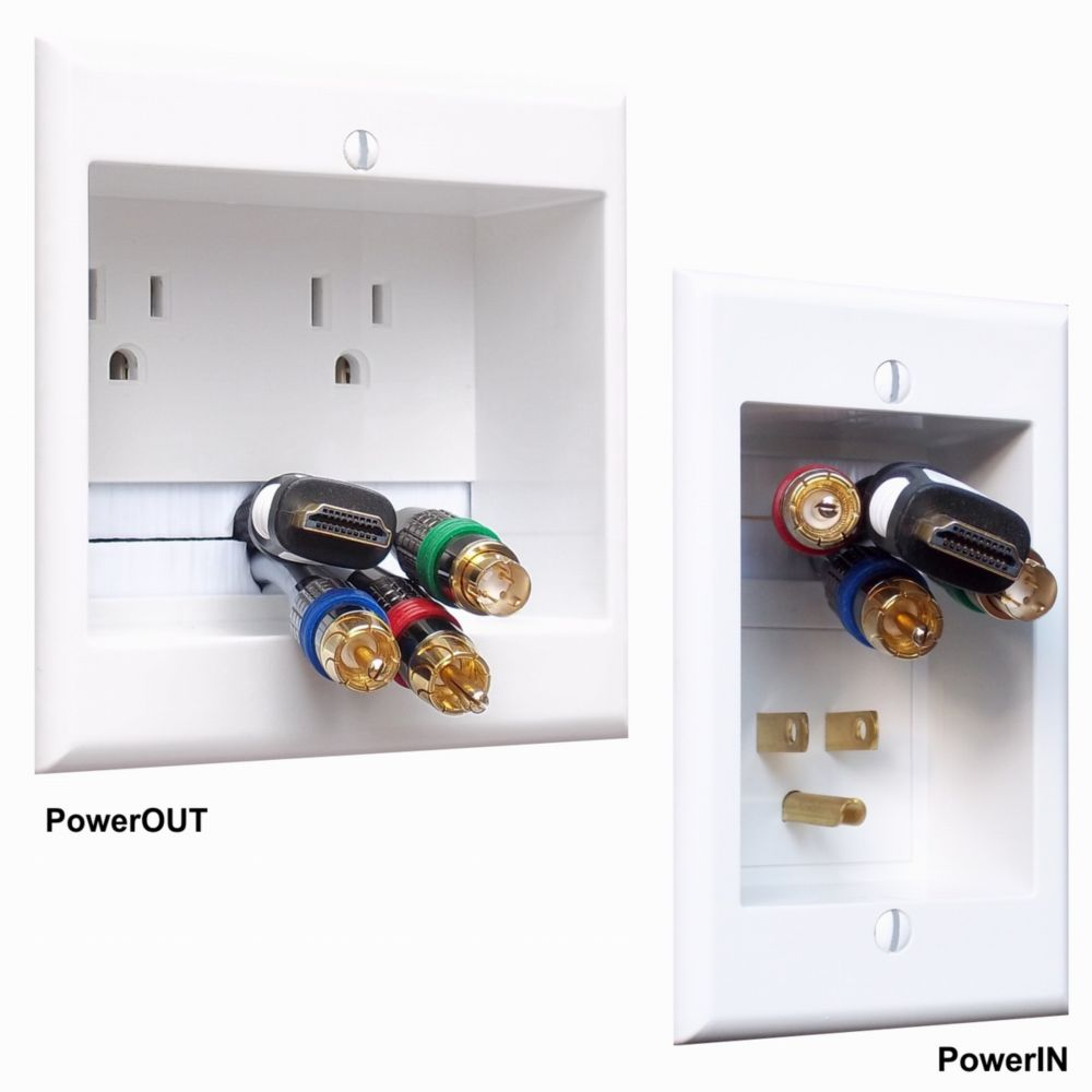Dual electrical outlet in-wall extension kit