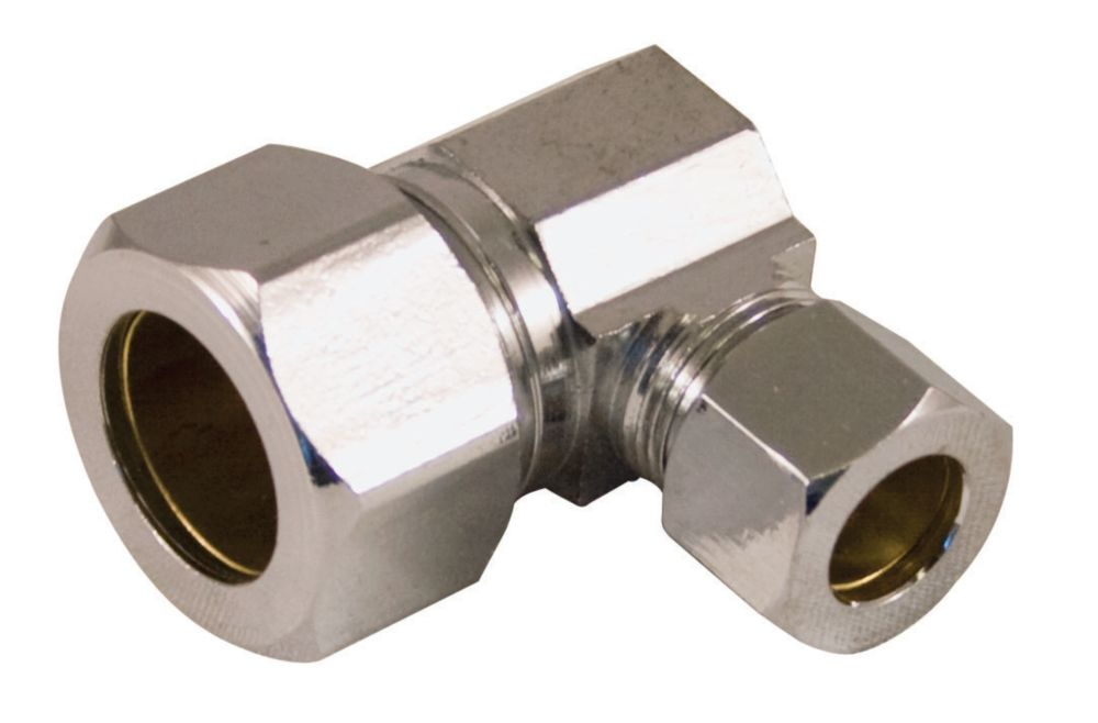 Supply Fitting 5/8 Inch O.D. Compression Angle  Lead Free