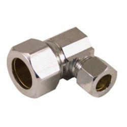 Aqua-Dynamic Supply Fitting 5/8 Inch O.D. Compression Angle  Lead Free