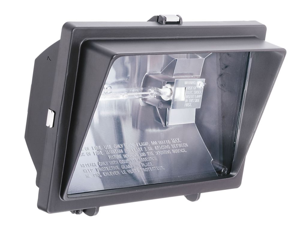 Lithonia Lighting Floodlight With Visor The Home Depot