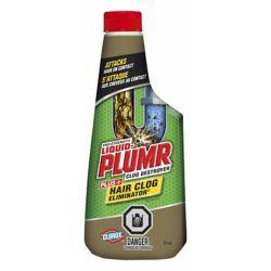 Liquid-Plumr Déboucheur pour bouchons de cheveux de puissance professionnelle Hair Clog EliminatorMC de Liquid-Plumr, 473 mL