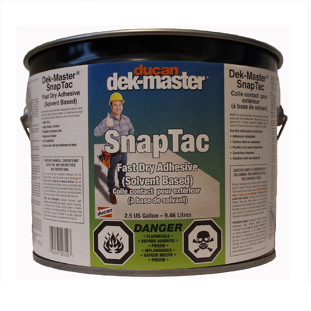 SnapTac Adhesive is a fast drying Adhesive used most commonly for 60 mil vinyl but can be used fo...