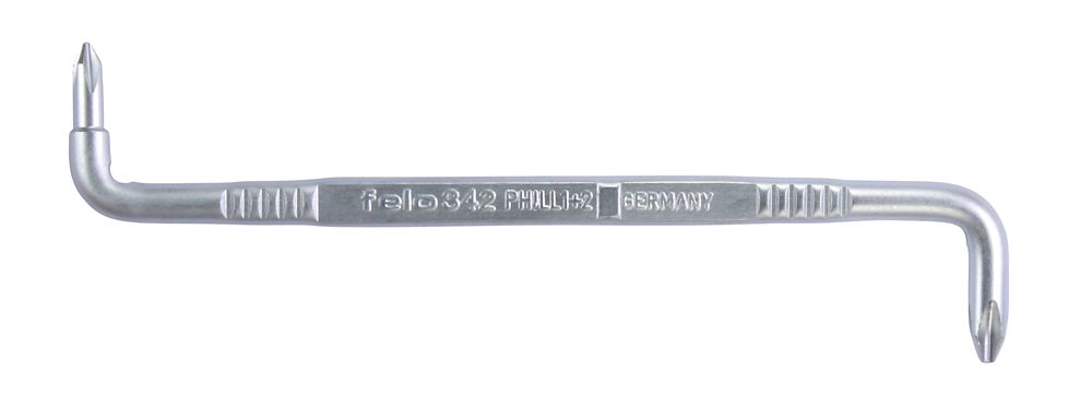 tournevis coudés PH 1 + PH 2, 135mm x 6mm