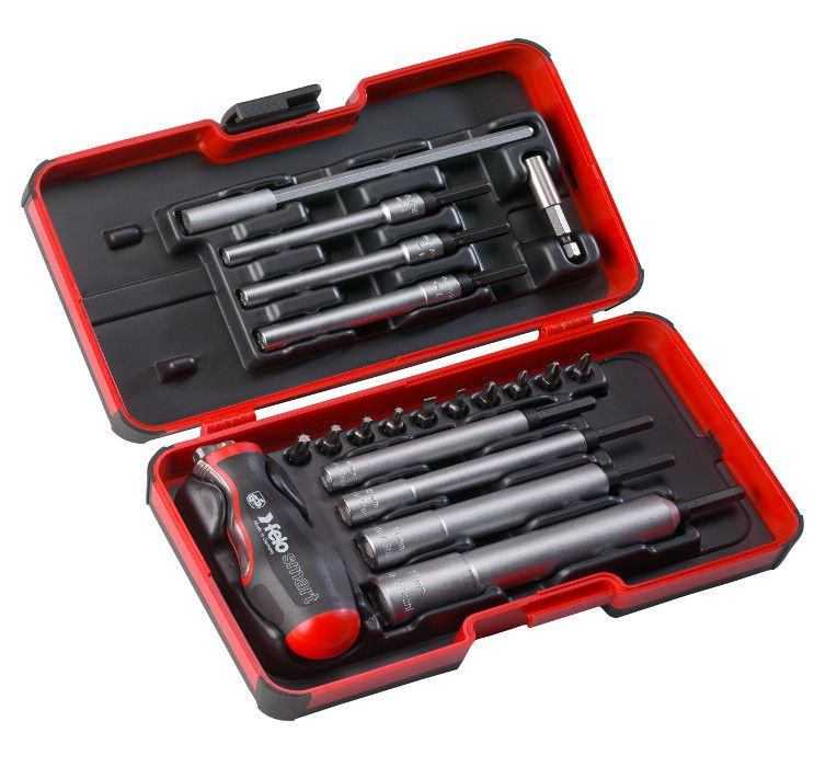 Felo 21-Piece Engineer Set, M-Tec Nut Driver, and 2-in-1 Screwdriver and T-Handle in StrongBox