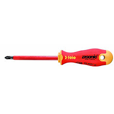 2 x 100mm, VDE 1,000V Insulated Screwdriver with Ergonic Handle PH