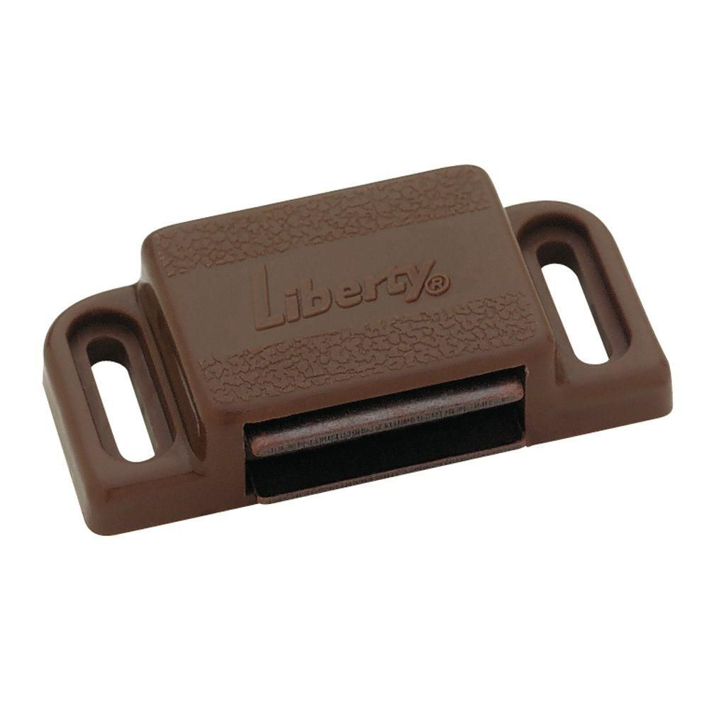 Liberty Heavy Duty Magnetic Catch with Strike BROWN