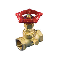 Stop & Waste Valve 1/2 Inch Brass Threaded Lead Free