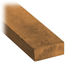 2-inch x 4-inch x 8 ft. Brown Pressure Treated Board