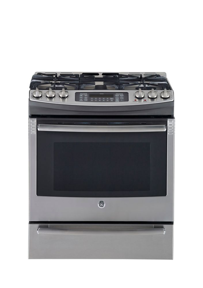 5.3 cu. ft. Free-Standing Dual-Fuel Convection Range in Stainless Steel
