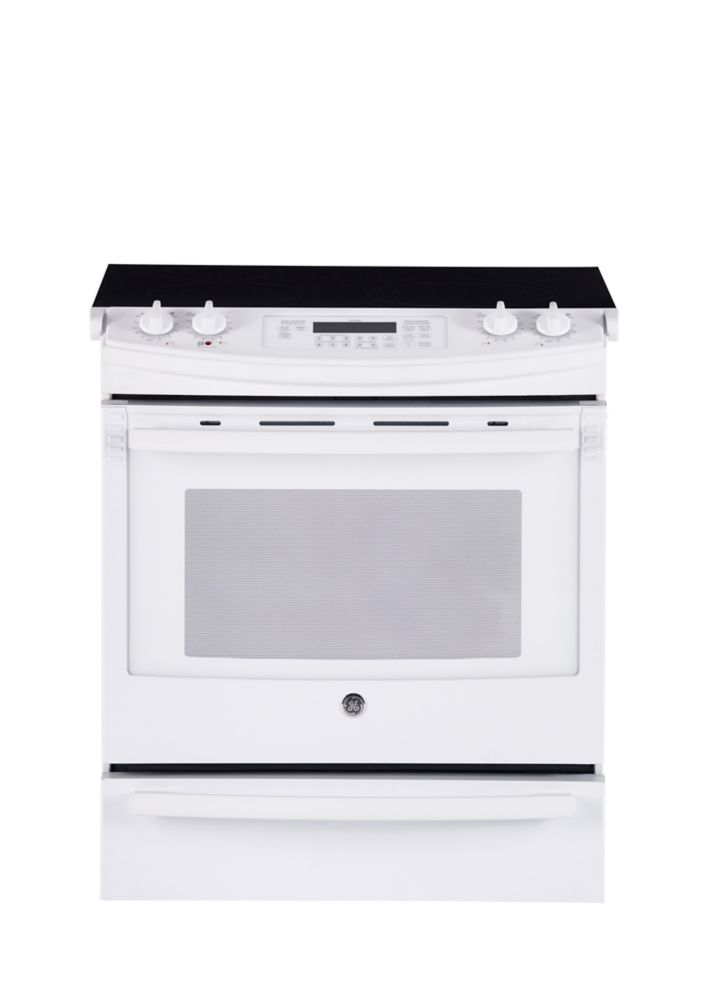 5.2 cu. ft. Slide-in CleanDesign Electric Range in White