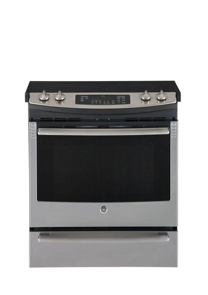 Cuisinière électrique encastrée acier inoxydable CleanDesign de 30 po - JCS630SFSS