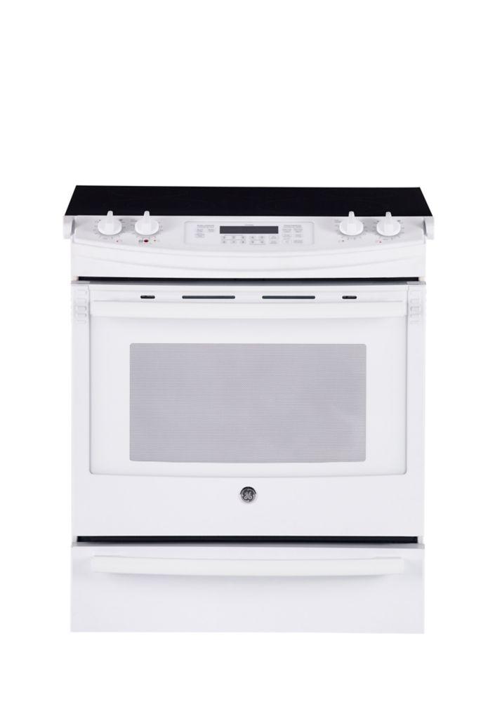 Home Depot Foyer Electrique Blanc : Ge cuisinière électrique convection encastrée blanc