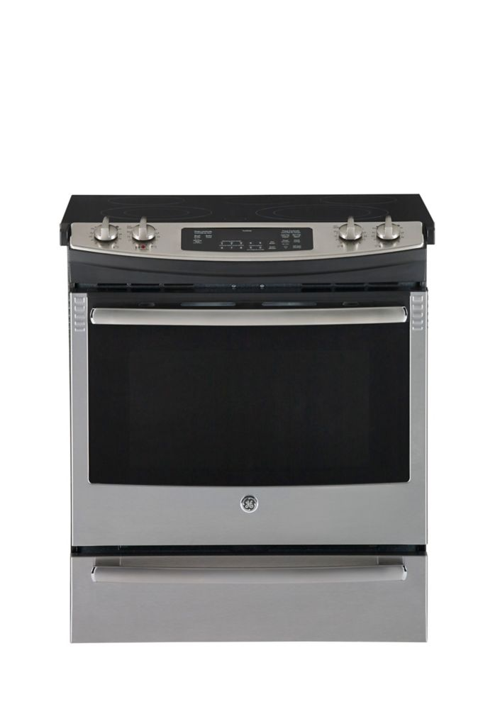 5.2 cu. ft. Slide-in CleanDesign Electric Convection Range in Stainless Steel