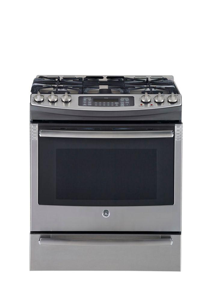 Cuisinière à gaz de four à convection autonettoyant acier inoxydable de 30 po avec tiroir de cuis...
