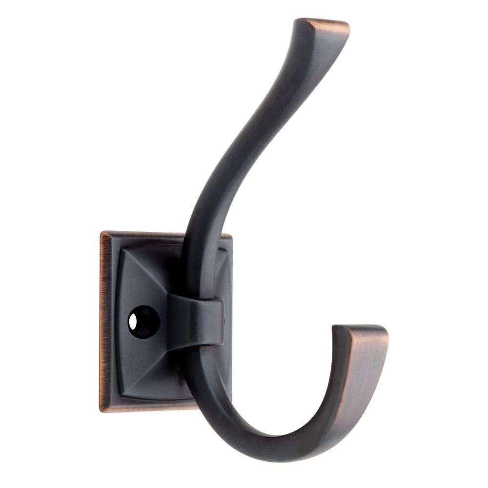 Ruavista Coat & Hat Hook Bronze w/ Copper Highlights