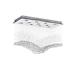 Twinkle 36 inch 11 Light Flush Mount with Chrome Finish