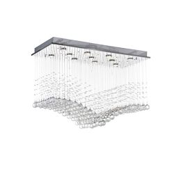 CWI Lighting Twinkle 36 inch 11 Light Flush Mount with Chrome Finish