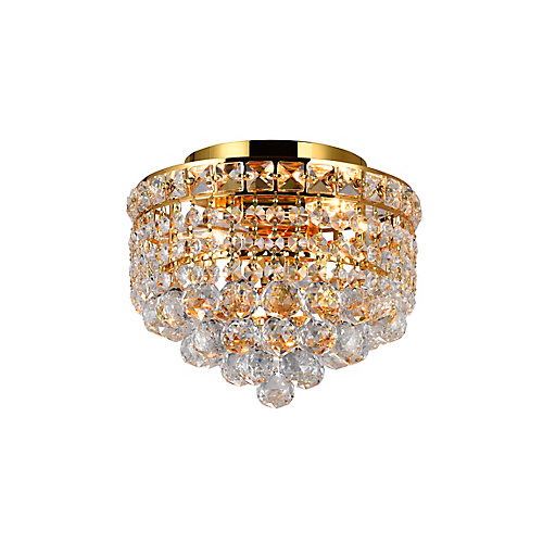 10-inch Round Flushmount Lighting Fixture in Gold