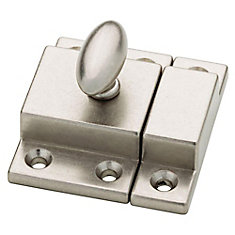 Brushed Nickel Matchbox Catch