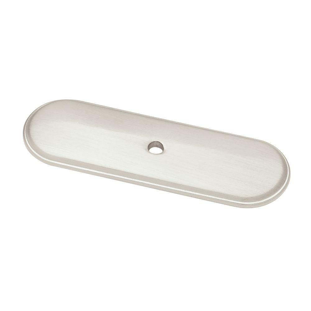 3 in. Raised Oval Knob Backplate