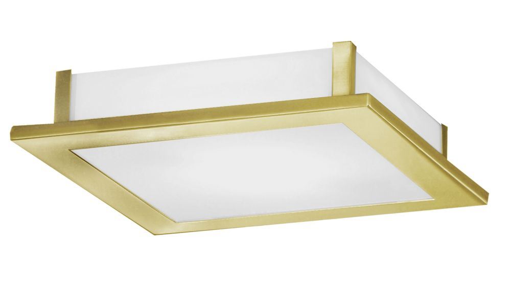 AURIGA Ceiling Light 2L, Brass Coated Finish, Satin Glass