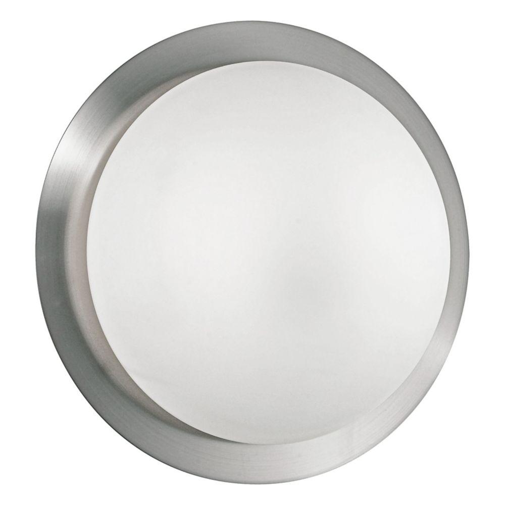 ORBIT 1 Plafonnier, fini nickel mat avec verre satin