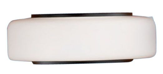 MODICA Wall Light 1L, Black & Chrome Finish, Opal White Glass