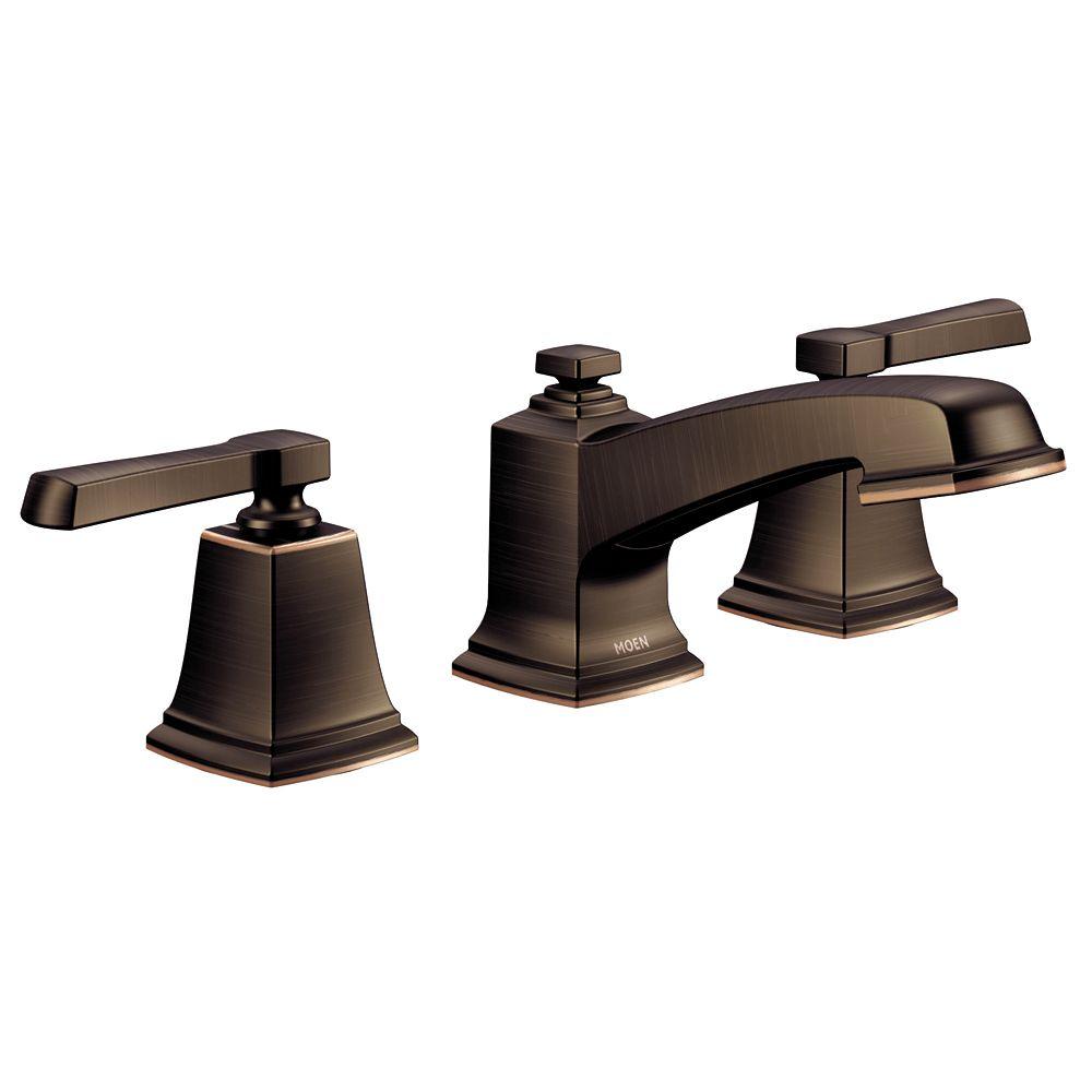 Boardwalk 2-Handle Widespread Bathroom Faucet in Mediterranean Bronze Finish